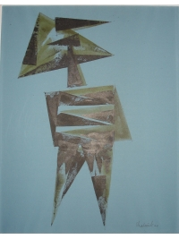 Figure on Blue by Lynn Chadwick