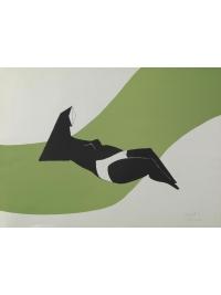 Reclining Figure (Green Wave) by Lynn Chadwick