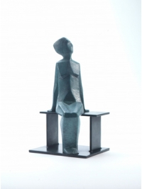 Woman on a Bench by Terence Coventry