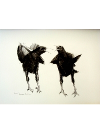 Choughs by Terence Coventry