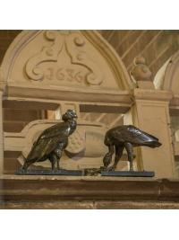 Male Condor at Rest & Female Condor Shredding Meat by Rembrandt Bugatti