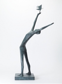 Man  Releasing Bird II by Terence Coventry