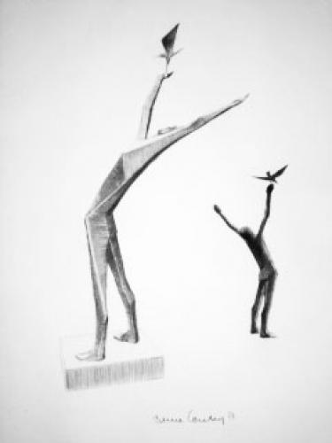 Man Releasing Bird